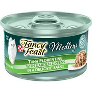 Fancy Feast Medleys Tuna Florentine Canned Cat Food, 3-oz, case of 24