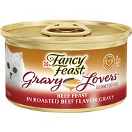 Fancy Feast Gravy Lovers Beef Feast in Roasted Beef Flavor Gravy Canned Cat Food, 3-oz, case of 24