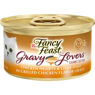 Fancy Feast Gravy Lovers Chicken Hearts & Liver Feast in Grilled Chicken Flavor Gravy Canned Cat Food, 3-oz, case of 24