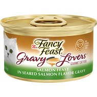 Fancy Feast Gravy Lovers Salmon Feast in Seared Salmon Flavor Gravy Canned Cat Food, 3-oz, case of 24