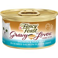 Fancy Feast Gravy Lovers Salmon & Sole Feast in Seared Salmon Flavor Gravy Canned Cat Food, 3-oz, case of 24