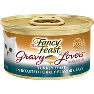Fancy Feast Gravy Lovers Turkey Feast in Roasted Turkey Flavor Gravy Canned Cat Food, 3-oz, case of 24