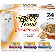 Fancy Feast Delights with Cheddar Grilled Varieties Pack Canned Cat Food, 3-oz, case of 24