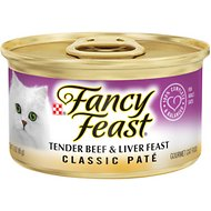 Fancy Feast Classic Tender Beef & Liver Feast Canned Cat Food, 3-oz, case of 24