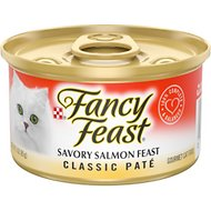 Fancy Feast Classic Savory Salmon Feast Canned Cat Food, 3-oz, case of 24