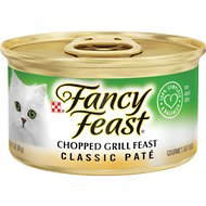Fancy Feast Classic Chopped Grill Feast Canned Cat Food, 3-oz, case of 24