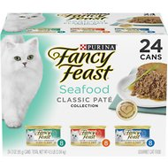 Fancy Feast Classic Seafood Feast Variety Pack Canned Cat Food, 3-oz, case of 24