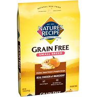 Nature's Recipe Small Breed Grain-Free Chicken, Sweet Potato & Pumpkin Recipe Dry Dog Food, 12-lb bag
