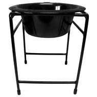 Platinum Pets Modern Single Diner Elevated Wide Rimmed Dog Bowl, Black, 50-oz