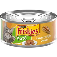 Friskies Classic Pate Country Style Dinner Canned Cat Food, 5.5-oz, case of 24