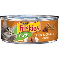 Friskies Classic Pate Liver & Chicken Dinner Canned Cat Food, 5.5-oz, case of 24