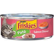 Friskies Classic Pate Salmon Dinner Canned Cat Food, 5.5-oz, case of 24