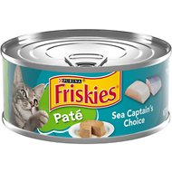 Friskies Classic Pate Sea Captain's Choice Canned Cat Food, 5.5-oz, case of 24