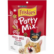 Friskies Party Mix Crunch Mixed Grill Cat Treats, 10-oz bag