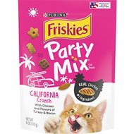 Friskies Party Mix Crunch California Dreamin' Cat Treats, 6-oz bag