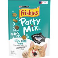 Friskies Party Mix Crunch Meow Luau Cat Treats, 6-oz bag