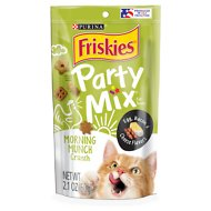 Friskies Party Mix Crunch Morning Munch Cat Treats, 2.1-oz bag