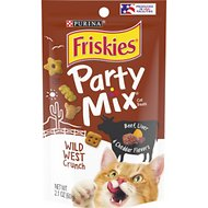 Friskies Party Mix Crunch Wild West Cat Treats, 2.1-oz bag
