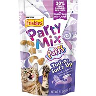 Friskies Party Mix Puffs Turf-n-Surf's Up Cat Treats, 2.1-oz bag