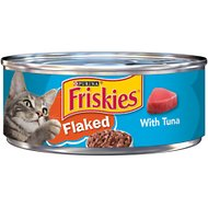 Friskies Flaked with Tuna in Sauce Canned Cat Food, 5.5-oz, case of 24