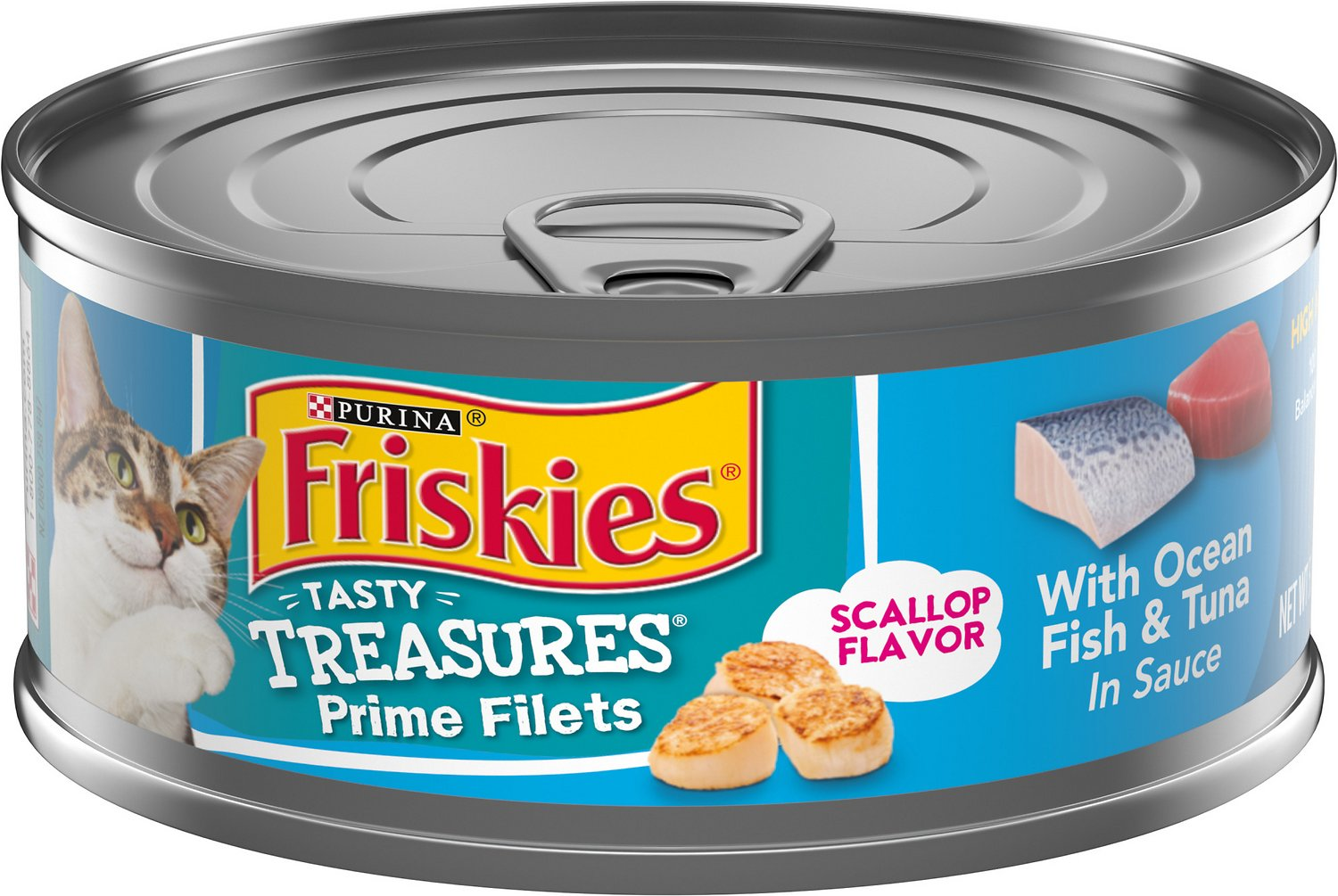 Friskies tasty treasures with ocean fish tuna cheese in for Is tuna fish good for cats