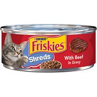 Friskies Savory Shreds with Beef in Gravy Canned Cat Food, 5.5-oz, case of 24
