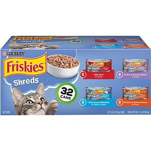 Friskies Shreds Variety Pack Canned Wet Cat Food