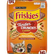Friskies Tender & Crunchy Combo Dry Cat Food, 16-lb bag