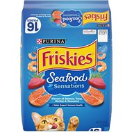 Friskies Seafood Sensations Dry Cat Food, 16-lb bag