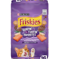 Friskies Surfin' & Turfin' Favorites Dry Cat Food, 16-lb bag