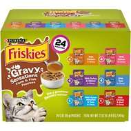 Friskies Gravy Sensations Pouch Favorites Cat Food Pouches, 3-oz pouch, case of 24