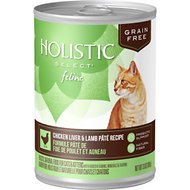 Holistic Select Chicken Liver & Lamb Pate Recipe Grain-Free Canned Cat & Kitten Food, 13-oz, case of 12
