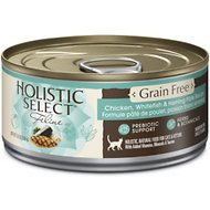 Holistic Select Chicken, Whitefish & Herring Pate Recipe Grain-Free Canned Cat & Kitten Food, 5.5-oz, case of 24
