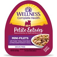 Wellness Petite Entrees Mini-Filets with Tender Turkey, Green Beans & White Sweet Potatoes in Gravy Wet Dog Food, 3-oz, case of 24