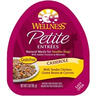 Wellness Petite Entrees Casserole with Tender Chicken, Green Beans & Carrots Grain-Free Wet Dog Food, 3-oz, case of 24