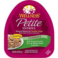 Wellness Petite Entrees Casserole with Roasted Lamb, Peas & White Sweet Potatoes Grain-Free Wet Dog Food, 3-oz, case of 24