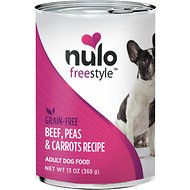 Nulo Freestyle Beef, Peas & Carrot Recipe Grain-Free Canned Dog Food, 13-oz, case of 12