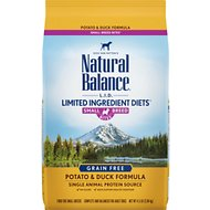 Natural Balance L.I.D. Limited Ingredient Diets Potato & Duck Formula Small Breed Bites Grain-Free Dry Dog Food, 4.5-lb bag