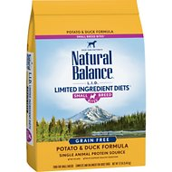 Natural Balance L.I.D. Limited Ingredient Diets Potato & Duck Formula Small Breed Bites Grain-Free Dry Dog Food, 12-lb bag
