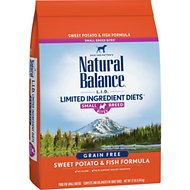 Natural Balance L.I.D. Limited Ingredient Diets Sweet Potato & Fish Formula Small Breed Bites Grain-Free Dry Dog Food, 12-lb bag