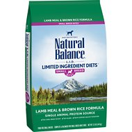 Natural Balance L.I.D. Limited Ingredient Diets Lamb Meal & Brown Rice Formula Small Breed Bites Dry Dog Food, 12-lb bag