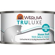 Weruva Truluxe Honor Roll with Saba in Gravy Grain-Free Canned Cat Food, 3-oz, case of 24