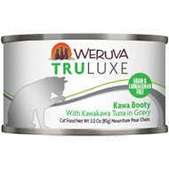 Weruva Truluxe Kawa Booty with Kawakawa Tuna in Gravy Grain-Free Canned Cat Food, 3-oz, case of 24