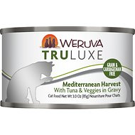 Weruva Truluxe Mediterranean Harvest with Tuna & Veggies in Gravy Grain-Free Canned Cat Food, 3-oz, case of 24
