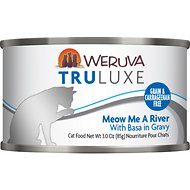 Weruva Truluxe Meow Me A River with Basa in Gravy Grain-Free Canned Cat Food, 3-oz, case of 24