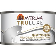Weruva Truluxe Quick 'N Quirky with Chicken & Turkey in Gravy Grain-Free Canned Cat Food, 3-oz, case of 24