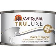Weruva Truluxe Quick 'N Quirky with Chicken & Turkey in Gravy Grain-Free Canned Cat Food, 6-oz, case of 24