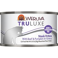 Weruva Truluxe Steak Frites with Beef & Pumpkin in Gravy Grain-Free Canned Cat Food, 3-oz, case of 24