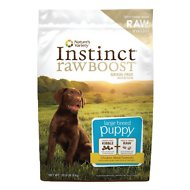 Nature's Variety Instinct Raw Boost Grain-Free Chicken Meal Formula Large Breed Puppy Dry Dog Food, 20-lb bag