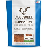 Dogswell Happy Hips Grillers Chicken Recipe Dog Treats, 5-oz bag